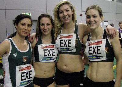 Exeter Uni  girls 4x1 relay team