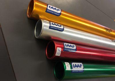 IIAF approved metal relay batons