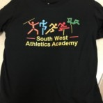 SWAA black Tshirt with full colour logo (front and back)